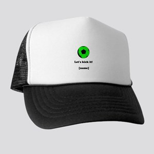 Personalized Lets kick it! - GREEN Hat