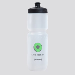 Personalized Lets kick it! - GREEN Sports Bottle