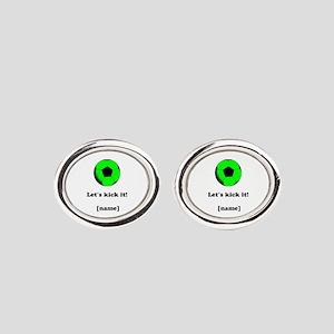 Personalized Lets Kick It! - GREEN Cufflinks