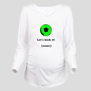 Personalized Lets kick it! - GREEN Long Sleeve Mat