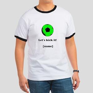 Personalized Lets kick it! - GREEN T-Shirt