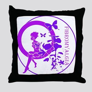 CLEAR FAIRY-FIBROMYALGIA Throw Pillow