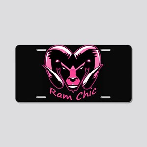 Pink Ram Chic Aluminum License Plate
