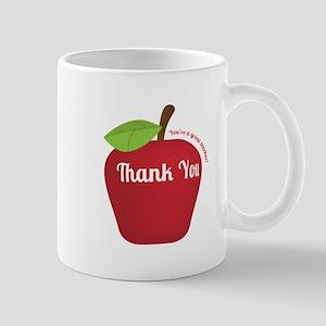 Great Teacher, Red Teacher Appreciation Apple Mugs
