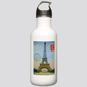 VINTAGE EIFFEL TOWER Stainless Water Bottle 1.0L