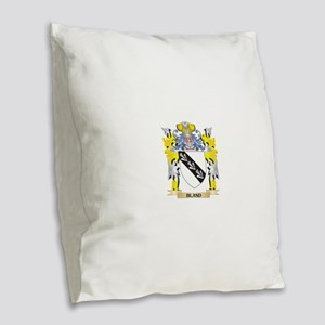 Bland Coat of Arms - Family Cr Burlap Throw Pillow