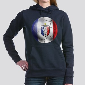 French Soccer Ball Hooded Sweatshirt