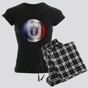 French Soccer Ball Women's Dark Pajamas
