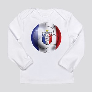 French Soccer Ball Long Sleeve Infant T-Shirt