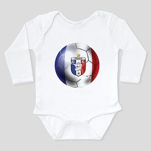 French Soccer Ball Long Sleeve Infant Bodysuit
