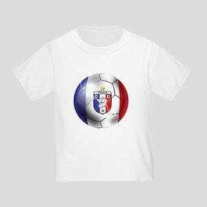 French Soccer Ball Toddler T-Shirt