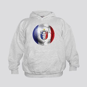 French Soccer Ball Kids Hoodie