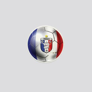 French Soccer Ball Mini Button