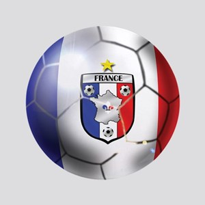 French Soccer Ball 3.5&Quot; Button