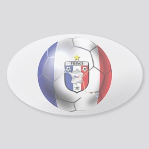 French Soccer Ball Sticker (Oval)