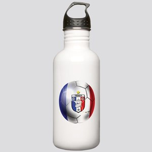 French Soccer Ball Stainless Water Bottle 1.0L
