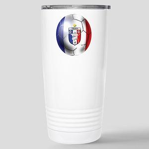 French Soccer Ball Stainless Steel Travel Mug