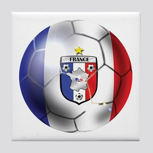 French Soccer Ball Tile Coaster