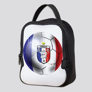 French Soccer Ball Neoprene Lunch Bag