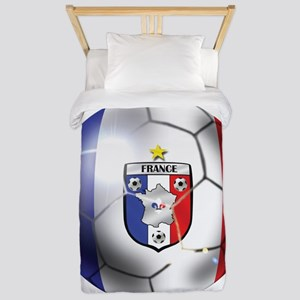 French Soccer Ball Twin Duvet