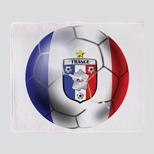 French Soccer Ball Throw Blanket
