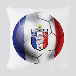 French Soccer Ball Woven Throw Pillow