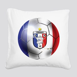 French Soccer Ball Square Canvas Pillow