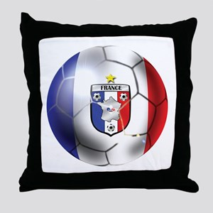 French Soccer Ball Throw Pillow