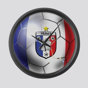 French Soccer Ball Large Wall Clock