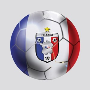 French Soccer Ball Ornament (Round)