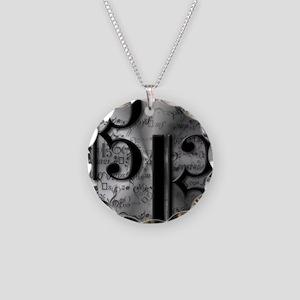 AltoClefsilverround Necklace