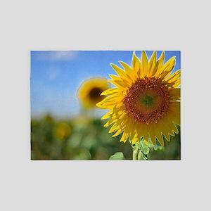 Luminous Sunflower 5'x7'Area Rug
