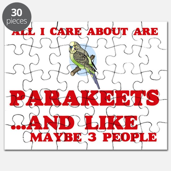 All I care about are Parakeets Puzzle