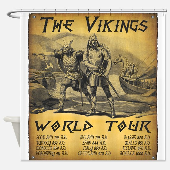 Viking World Tour Shower Curtain