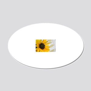 Sunflower with Wild Oats 20x12 Oval Wall Decal