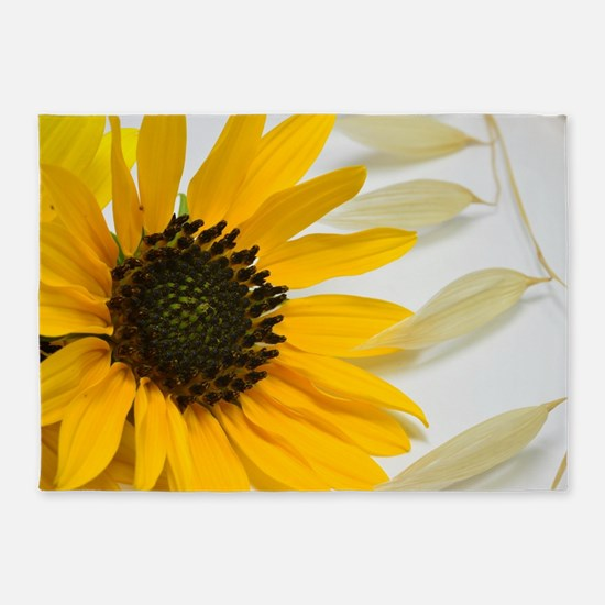 Sunflower with Wild Oats 5'x7'Area Rug
