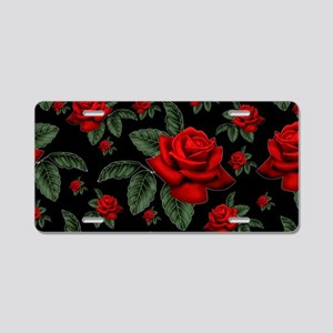 CHRISTMAS ROSES Aluminum License Plate