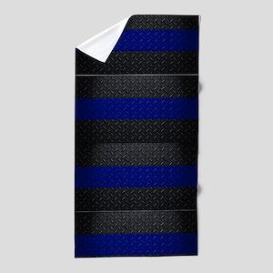 Police Thin Blue Line Beach Towel