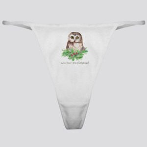 Woo Hoo its Christmas ! Cute Owl Bird Humor quote