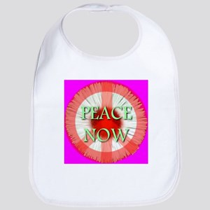 Peace Now Symbol Daisy Fleaba Bib