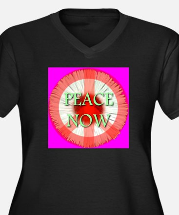 Peace Now Symbol Daisy Fleaba Women's Plus Size V-