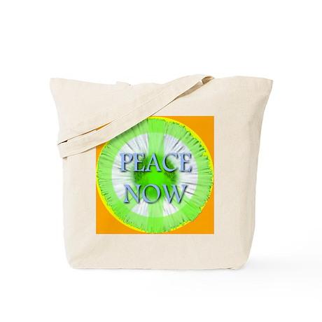 Peace Now Symbol Daisy Fleaba Tote Bag
