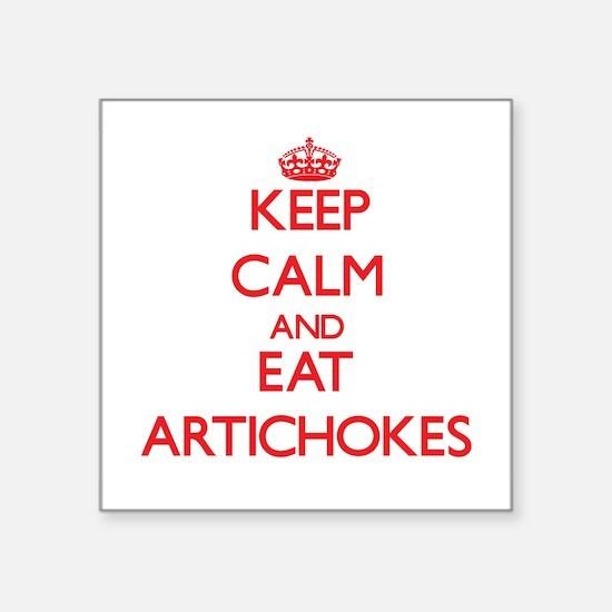 Keep calm and eat Artichokes Sticker