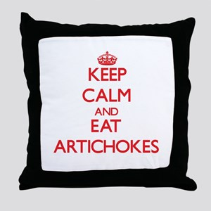 Keep calm and eat Artichokes Throw Pillow
