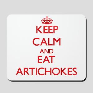 Keep calm and eat Artichokes Mousepad