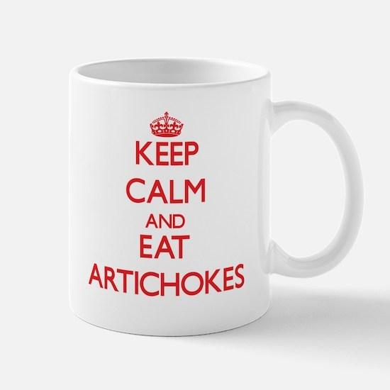 Keep calm and eat Artichokes Mugs
