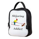 Skijoring Dog Addict Neoprene Lunch Bag