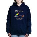 Skijoring Dog Addict Hooded Sweatshirt