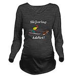 Skijoring Dog Addict Long Sleeve Maternity T-Shirt