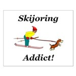 Skijoring Dog Addict Small Poster